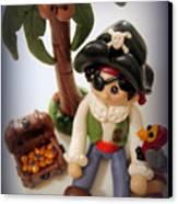 Pirate Scene Canvas Print by Trina Prenzi