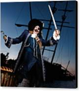 Pirate With A Treasure Chest Canvas Print