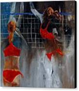 Playing Volley Canvas Print