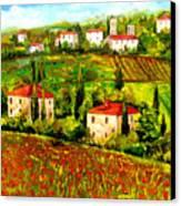 Poppies Field Canvas Print