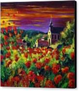 Poppies In Foy Canvas Print