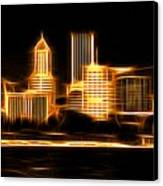 Portland Oregon Skyline  Canvas Print by Aaron Berg