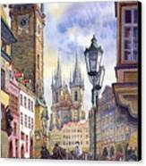 Prague Old Town Square 01 Canvas Print by Yuriy  Shevchuk