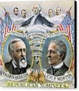 Presidential Campaign, 1888 Canvas Print