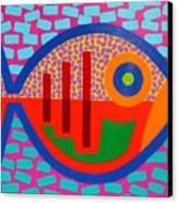 Psychedelic Fish Canvas Print by John  Nolan