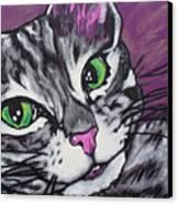 Purple Tabby Canvas Print by Sarah Crumpler