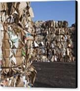 Recycling Facility Canvas Print by Paul Edmondson