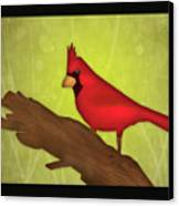 Red Bird  Canvas Print by Melisa Meyers
