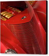 Red Classic Car Details Canvas Print by Oleksiy Maksymenko