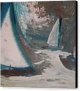Regatta Canvas Print by Gregory Dallum