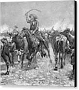 Remington: Cowboys, 1888 Canvas Print by Granger