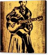 Robert Johnson Canvas Print by Jeff DOttavio