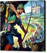 Robin Hood Canvas Print by James Edwin McConnell
