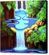 Saltwater Falls Canvas Print by Barbara Stirrup
