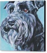 Schnauzer Canvas Print by Lee Ann Shepard