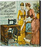 Sewing Machine Ad, C1880 Canvas Print by Granger