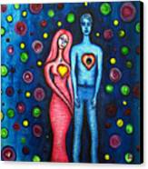 She Grieves The Hole In His Heart Canvas Print by Brenda Higginson