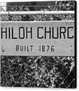 Shiloh Church Sign Birds Landing Ca Canvas Print by Troy Montemayor