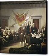 Signing The Declaration Of Independence Canvas Print by John Trumbull
