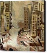 Skyleaking City Canvas Print