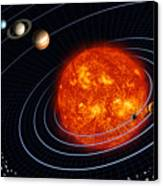 Solar System Canvas Print by Stocktrek Images