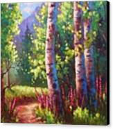 Spring Path Canvas Print