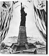 Statue Of Liberty, 1885 Canvas Print by Granger