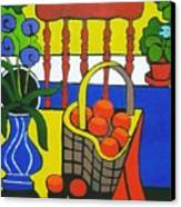 Still Life With Red Chair And Oranges Canvas Print