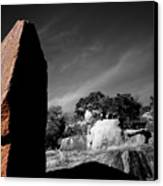 Straight Edge Boulder Enchanted Rock Texas Canvas Print