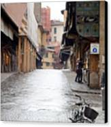 Streets Of Florence Canvas Print by Andre Goncalves