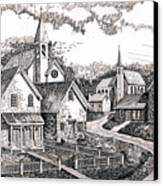 Sunday Houses Along Old Church Street Canvas Print