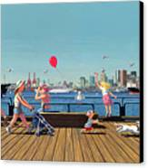 Sunday Morning Lonsdale Quay Canvas Print
