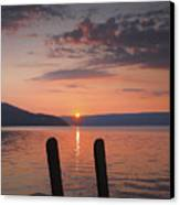 Sunrise Over Keuka V Canvas Print by Steven Ainsworth
