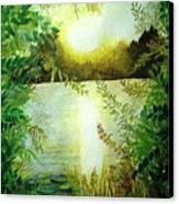Sunset At Mill Lake Canvas Print