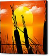 Sunset Lake Canvas Print by Robert Orinski