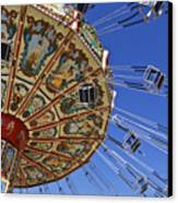 Swing Ride At The Fair Canvas Print by Jeremy Woodhouse