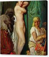 The Bath In The Harem Canvas Print