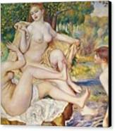 The Bathers Canvas Print by Pierre Auguste Renoir