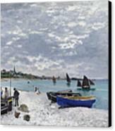 The Beach At Sainte Adresse Canvas Print