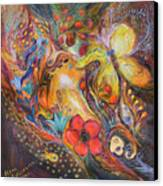 The Blue Lilies Canvas Print by Elena Kotliarker