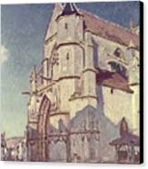The Church At Moret Canvas Print by Alfred Sisley