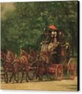 The Fairman Rogers Coach And Four Canvas Print by Thomas Cowperthwait Eakins