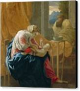 The Holy Family Canvas Print by Nicolas Poussin