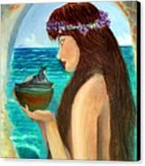 The Mermaid And The Pandora Box Canvas Print