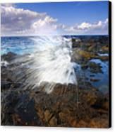 The Sea Erupts Canvas Print by Mike  Dawson
