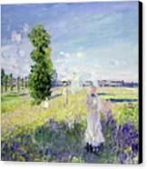 The Walk Canvas Print by Claude Monet