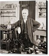 Thomas A. Edison 1847-1931, In His West Canvas Print by Everett
