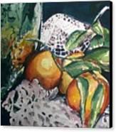 Three Oranges Canvas Print