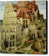 Tower Of Babel Canvas Print by Pieter the Elder Bruegel