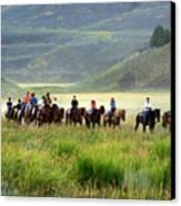 Trail Ride Canvas Print by Marty Koch